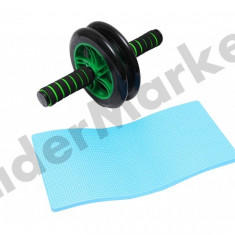 Roata fitness dubla pentru abdomen - Aparat pentru abdomen