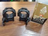 Prinderi rapide individuale pentru luneta 30 mm UTG max 60 mm  - 400 lei