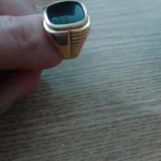 Inel aur cu piatra onyx negru, Carataj aur: 14k, Culoare: Galben