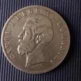 MONEDA 5 LEI 1883 CAROL I - Moneda Romania