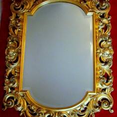OGLINDA originală  cristal  in rama sculptata stil BAROC