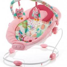 Leagan muzical cu vibratii Grand Confort Pink Sensation - Balansoar interior Baby Mix, Multicolor