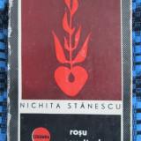 Nichita STANESCU - ROSU VERTICAL (prima editie - 1967) - Carte poezie