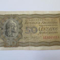 Argentina 50 Centavos 1951 - bancnota america