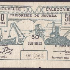 Bancnota Noua Caledonie 50 Centime 1943 - P54 VF