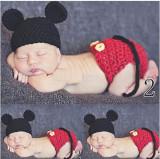 Costum crosetat bebelusi Mickey Mouse-botez sedinte foto nou