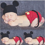 Costum crosetat bebelusi Mickey Mouse-botez sedinte foto nou, Din imagine