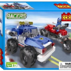 Set constructie - Curse de masini si motociclete - COGO - 260 piese