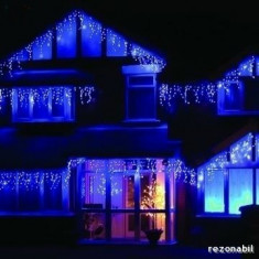 Instalatii tip perdea franjurata turturi 144 LED 4, 5m Decoratiuni Craciun divers - Instalatie electrica Craciun