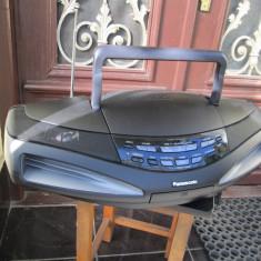 Radiocasetofon cu CD player boombox Panasonic RX-ED 77, 0-40 W