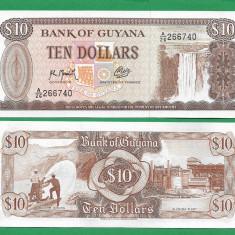 = GUYANA 10 DOLLARS 1992 UNC = - bancnota africa