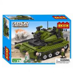 Set constructie - Tanc cu soldati - COGO - 260 piese