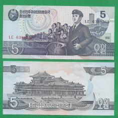 = NORTH KOREA - 5 WON - 1998 - UNC =