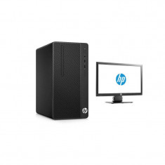 Sistem desktop HP 290 G1 MT Intel Core i3-7100 4GB DDR4 500GB HDD Black cu Monitor HP V197 18.5 inch - Sisteme desktop cu monitor
