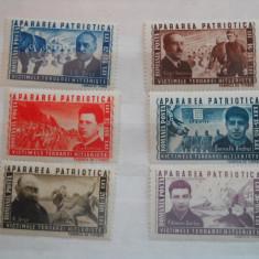 1945 LP 168 APARAREA PATRIOTICA - Timbre Romania, Nestampilat