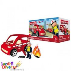 Pompier cu masina si accesorii - Pokeeto Car - Masinuta