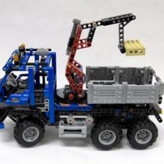 Masina cu macara - 805 piese - Masinuta