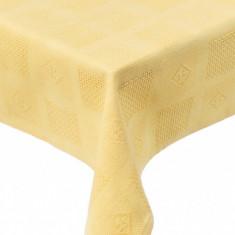 Fata de masa Textilia, P.Art, bumbac galben, 120x150 cm - Fata De Masa Antichitati