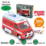 Macheta auto - Masina de interventie pompieri - Renault Trafic - MS 45