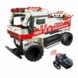 Masina Auto Fury cu telecomanda - din blocuri de construit, 6-8 ani, Electrice, Plastic