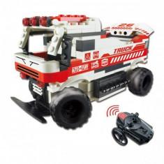 Masina Auto Fury cu telecomanda - din blocuri de construit - Masinuta, 6-8 ani, Electrice, Plastic, Baiat