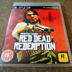Joc Red Dead Redemption, PS3, original, alte sute de jocuri!, Shooting, 16+, Single player, Sony