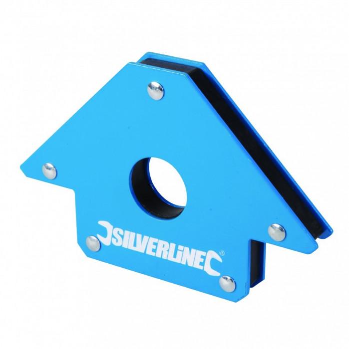 Magnet pentru sudura Silverline 100mm 45 ? 90 ? 135 ? , Silverline Welding Magnet foto mare