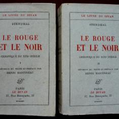 Ed. limitata 768/2500, 1932 Stendhal - Rosu si negru, hartie vargata, 2 vol. - Carte veche