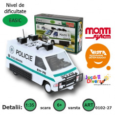 Macheta auto - Masina de politie Renault Trafic - MS 27