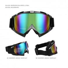 Ochelari unisex ski, snowboard si multe alte sporturi, lentila multicolora, O1NM - Ochelari ski