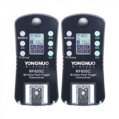 Set trigger transceiver receiver  Yongnuo RF-605 pentru Canon (603 II