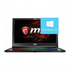 Laptop MSI GL63VR 7RE 15.6 inch FHD Intel Core i7-7700HQ 16GB DDR4 1TB HDD 256GB SSD GeForce GTX 1060 Win 10 Black