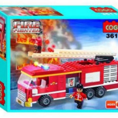 Set constructie - Masina de Pompieri - COGO - 209 piese