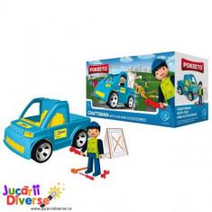 Meserias cu masina si accesorii - Pokeeto Car - Masinuta