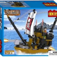 Set constructie - Corabie pirati - COGO - 160 piese