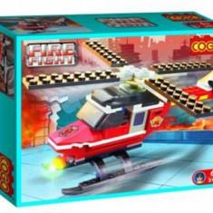 Set constructie - Elicopter pompieri - COGO - 88 piese