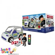 Politist cu masina si accesorii - Pokeeto Car - Masinuta