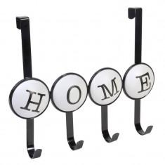 Mini cuier pentru usa, 34 x 28 cm, mesaj Home - Cuier hol