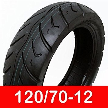 Cauciuc Anvelopa Moto Scuter Tubeless 120x70-12 120x70x12 120 70 12 NOU foto