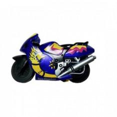 Motocicleta jucarie Spin-Go - Viteza pe doua roti!-Albastru