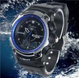 Ceas Military Fashion 2 fusuri orare, cronograf, data, digital analog, Lux - sport, Quartz, Plastic