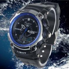 Ceas Military Fashion 2 fusuri orare, cronograf, data, digital analog