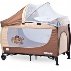 Patut pliabil pentru copii Caretero Grande PCG1MA, Maro - Patut pliant bebelusi