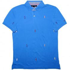 Tricou Polo TOMMY HILFIGER - Tricouri Barbati - 100% AUTENTIC - Tricou barbati Tommy Hilfiger, Marime: S, Culoare: Albastru, Bumbac