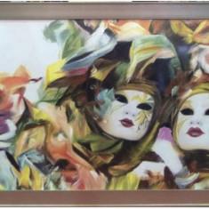 Tablou pictat in ulei cu rama lemn