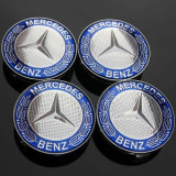 4 buc capac centru roata aliaj 75mm 3 pin Wheel Cover Logo Mercedes benz 4pcs