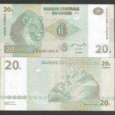 CONGO 20 FRANCI FRANCS 2003 UNC [1] P-94, necirculata - bancnota africa