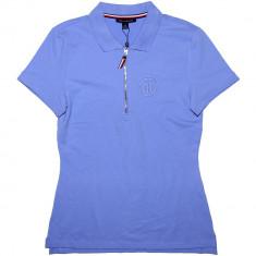 Tricou Polo TOMMY HILFIGER - Tricouri Dama, Femei - 100% AUTENTIC - Tricou dama Tommy Hilfiger, Marime: XS, Culoare: Albastru, Simplu, Maneca scurta, Casual