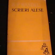 SCRIERI ALESE- B.P. HASDEU- - Studiu literar