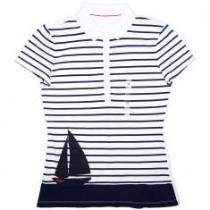 Tricou Polo TOMMY HILFIGER - Tricouri Dama, Femei - 100% AUTENTIC - Tricou dama Tommy Hilfiger, Marime: M, Culoare: Din imagine, Simplu, Maneca scurta, Casual